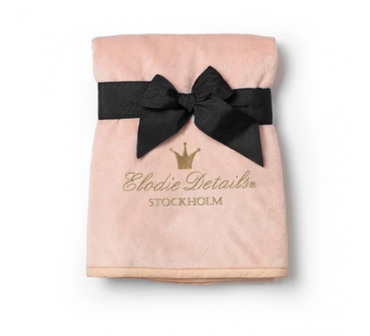 """Детский плед Elodie Details """"Pearl Velvet Blanket"""", Faded Rose with crown"""